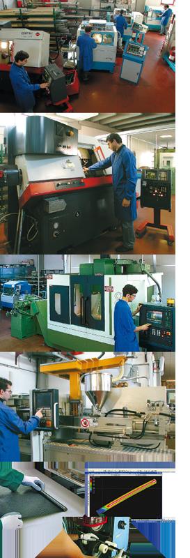 Produzione in officina e dela fibra di carbonio